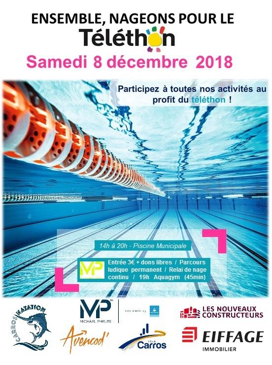 Carros natation nageons pour le telethon